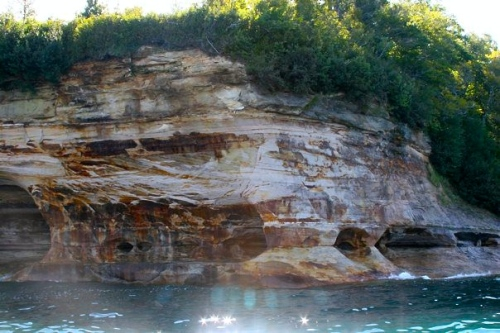 Beautiful colors of Pictured Rocks