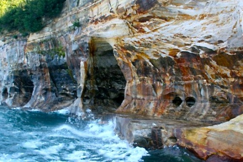 Caves along Pictured Rocks