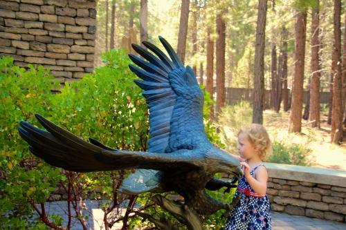 Eagle. Bronze Statue