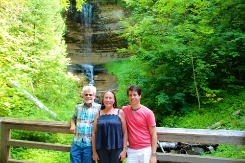 Enjoying Munising Falls