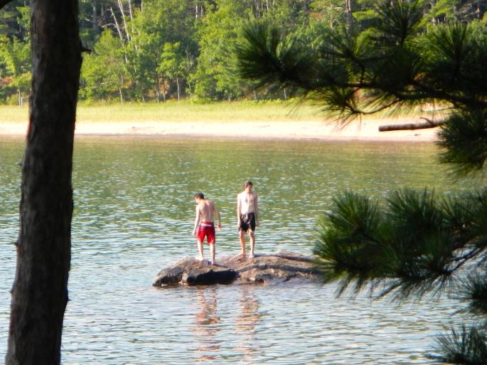 Guys on Rocks. Wetmore Landing
