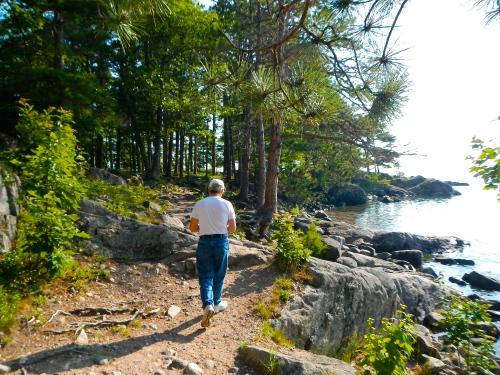 Hiking along Wetmore Landing