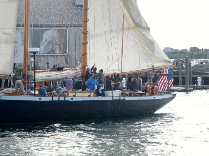 Hoisting up the sails
