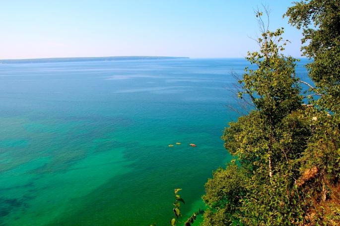 Kayakers in Lake Superior