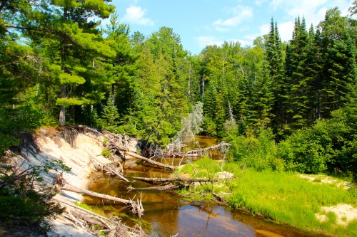Miners River. Pictured Rocks National Lakeshore