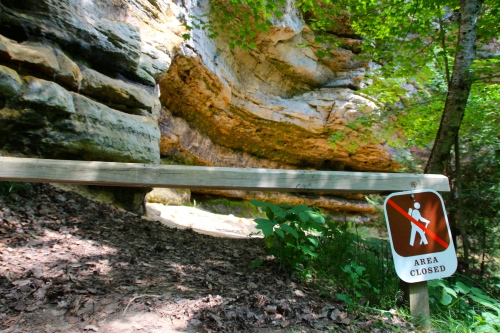 Munising Falls Path ends