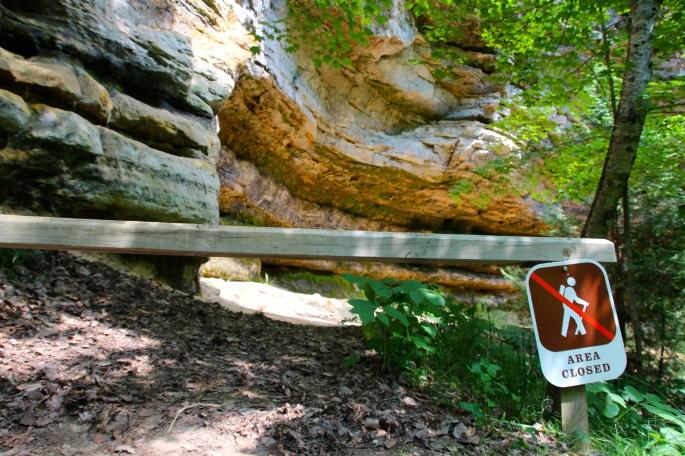 Munising Falls Path ends