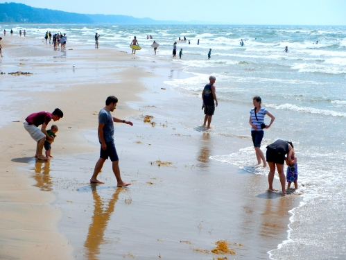 Pictures of kids at beach