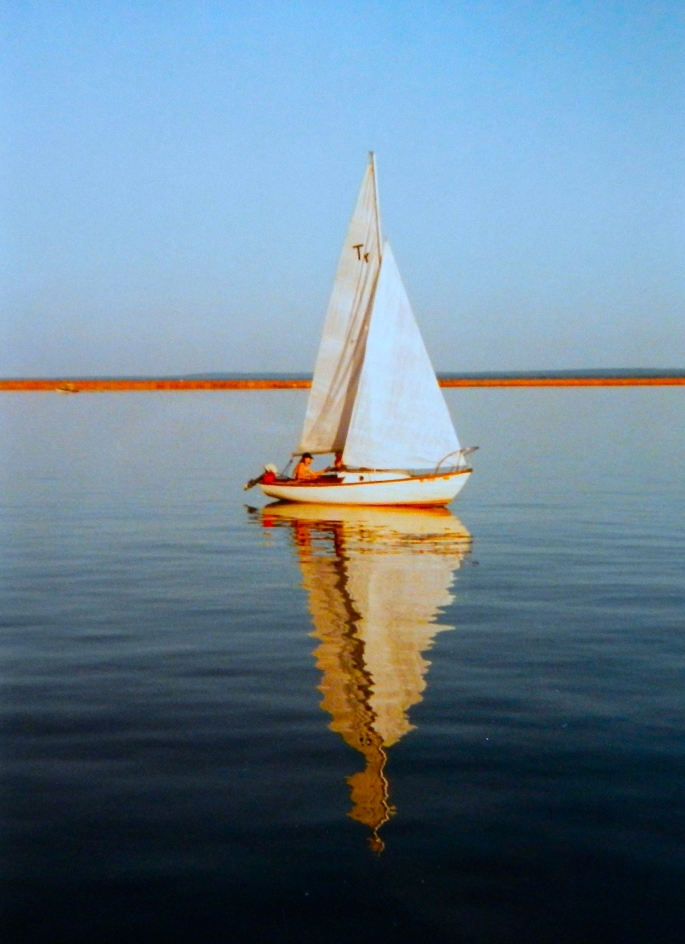 Sailboat. Marquette Harbor