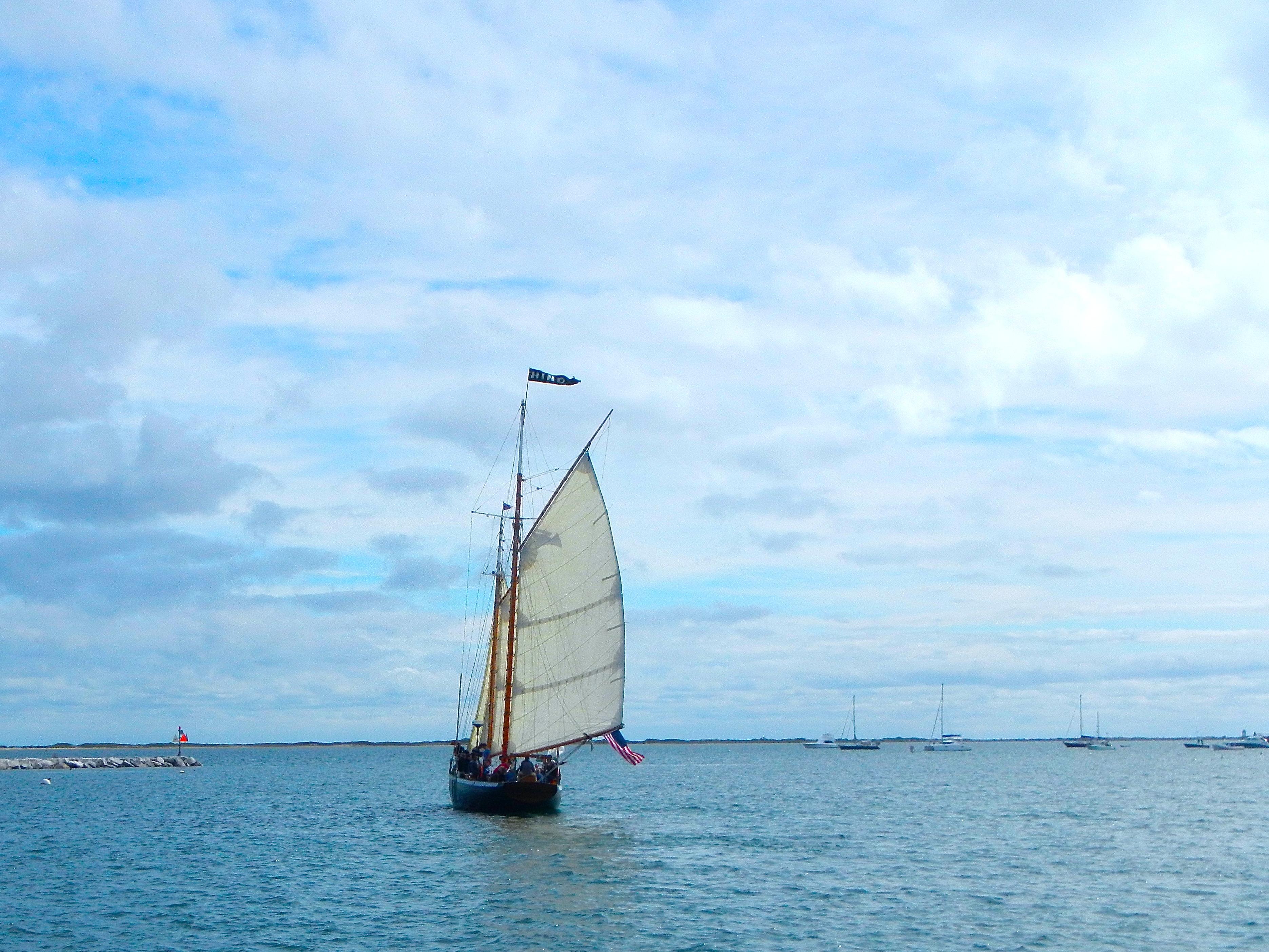 Sailing Ship leaving Provincetown