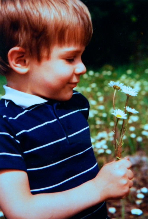Stephen with Daisies
