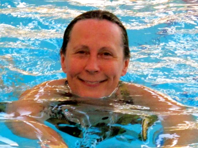 Swimming at resort on Dead Sea