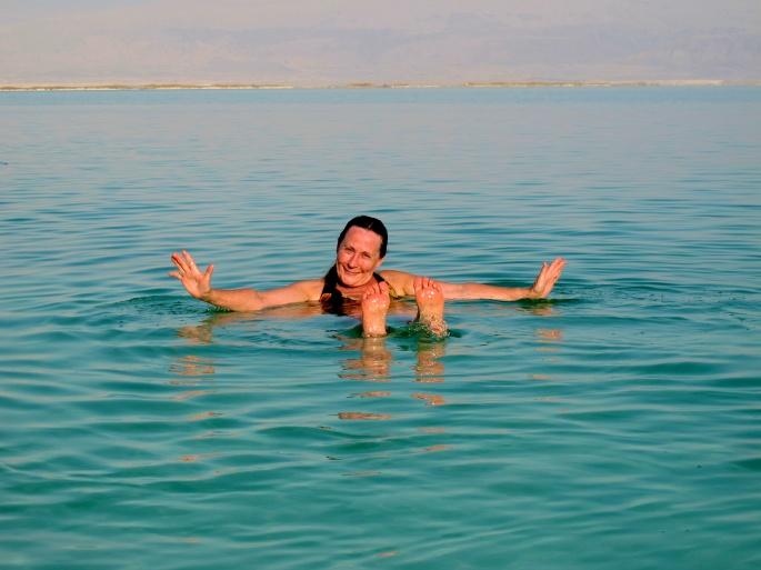 Swimming in Dead Sea