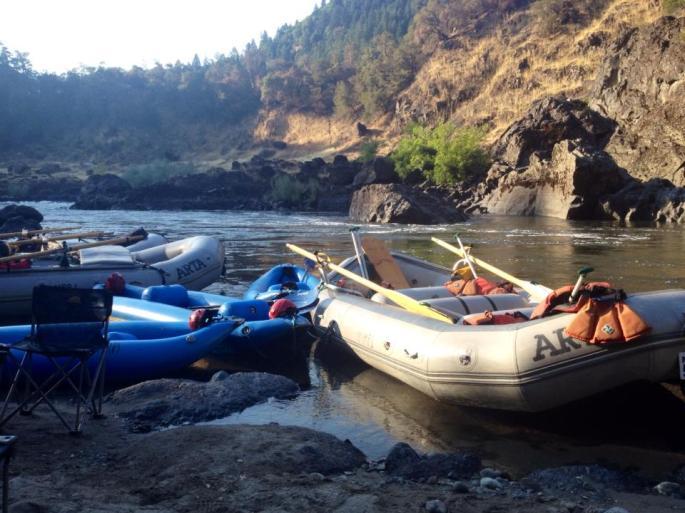 White water rafting. Andrea Lang
