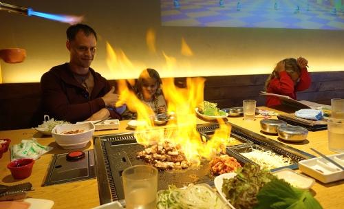 Korean Flaming Dinner
