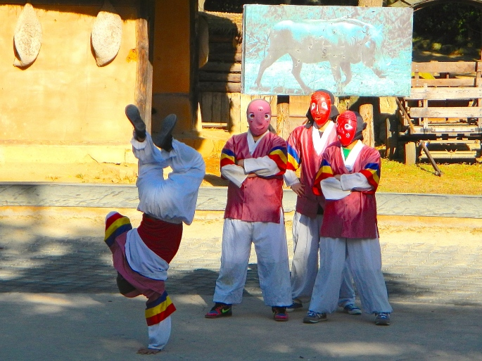 Korean Folk Dancers