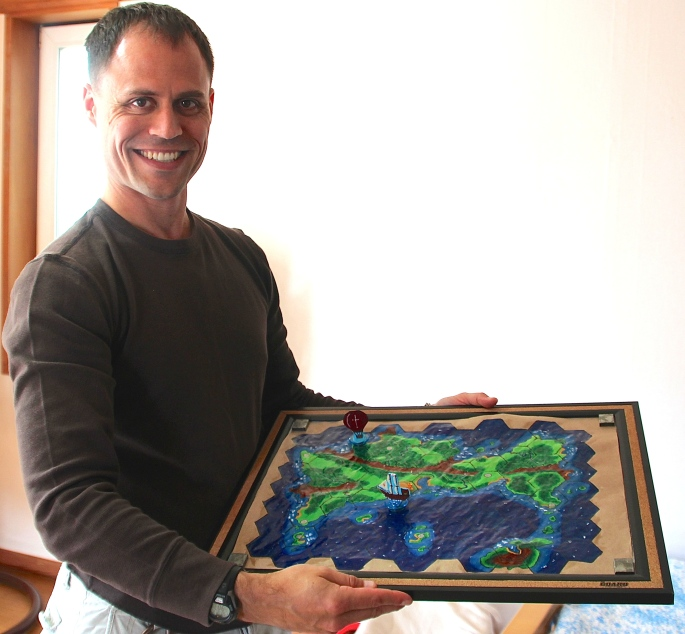 Mike with Game Board