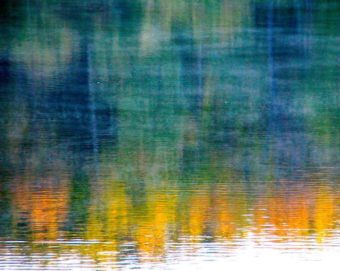 Misty Fall Lake Reflections copy