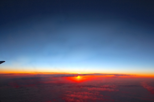 Sunrise over Pacific Ocean