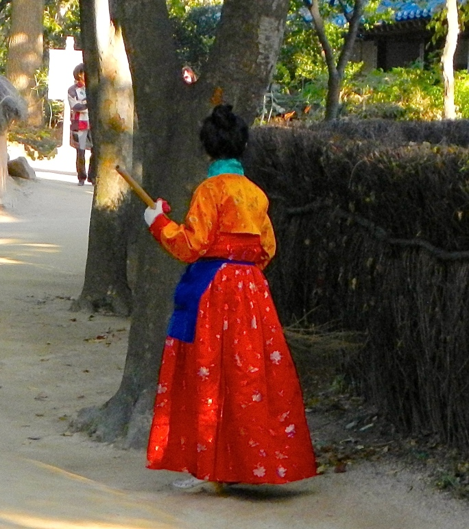 Traditional dress. Sweeper