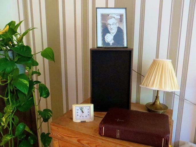Bible on nightstand