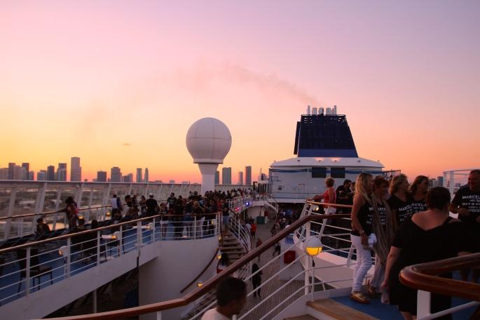 Norwegian Sky in Miami Harbor