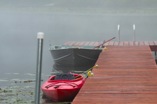 Our Dock on Misty Fall Morning copy