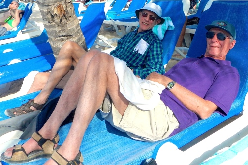 Relaxing at Great Stirrup Cay