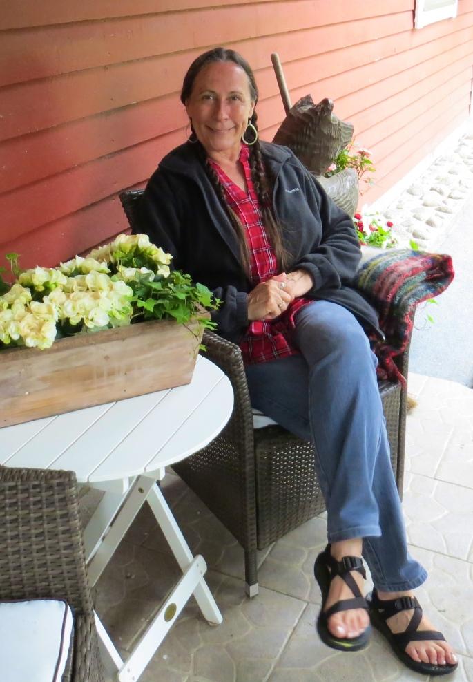 Sitting on Porch
