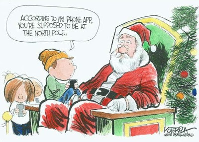 Cartoons About Christmas In The Computer Age Summer Setting