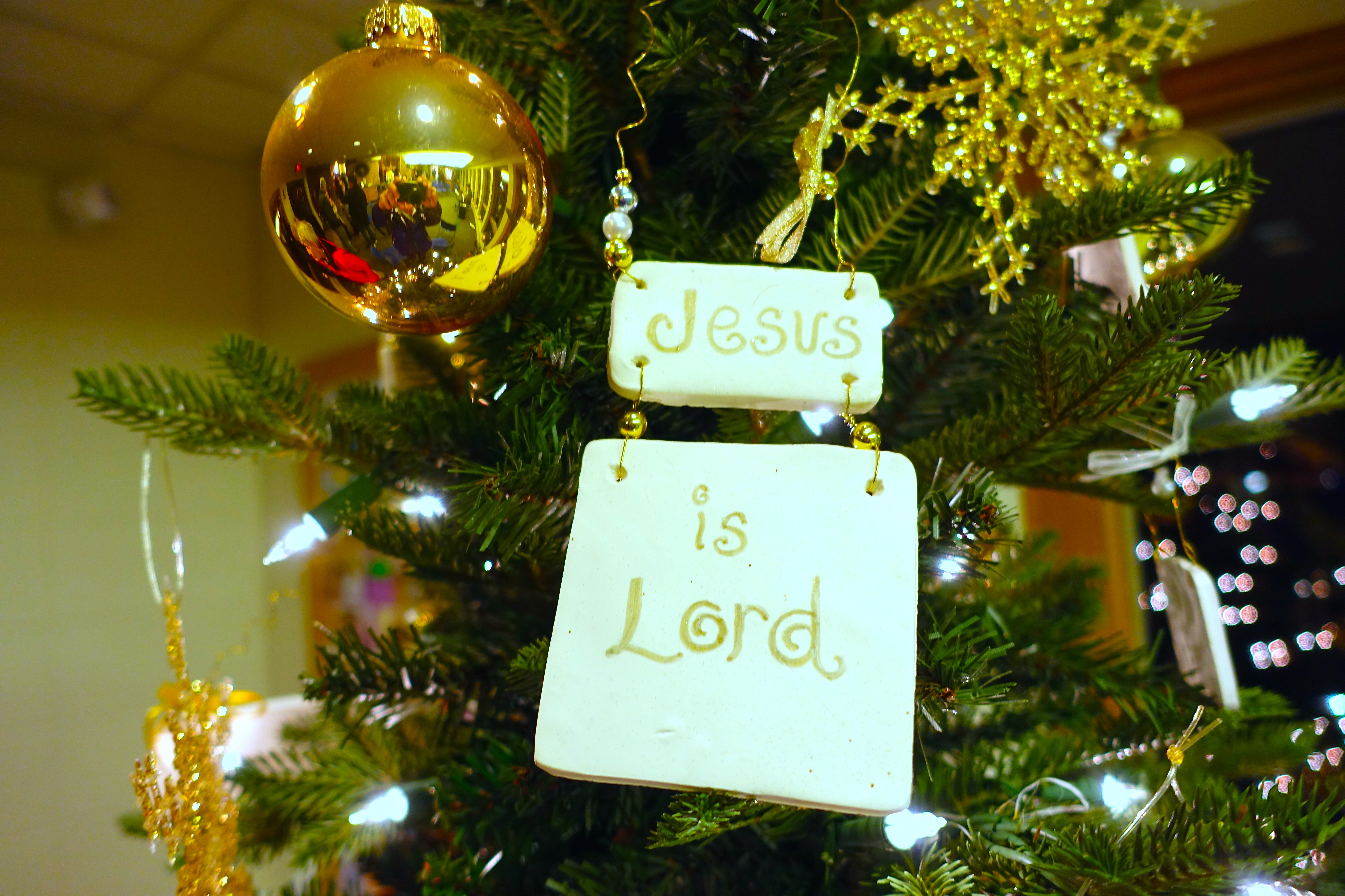Camera christmas ornaments - Jesus Is Lord