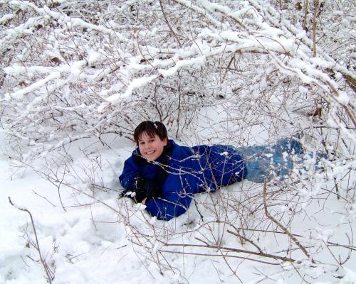 Joel in the Snow