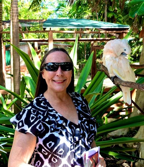 Kathi with Parrot Nassau