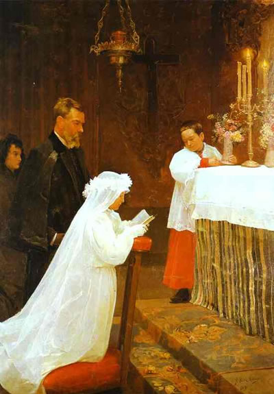 pablo-picasso-first-communion 1869