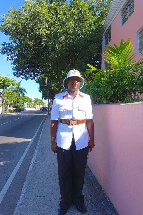 Policeman in Bahamas