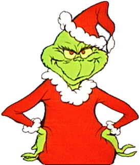 The Grinch in his Santa Suit