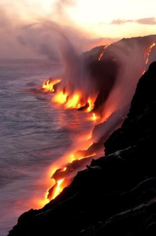 Volcanic activity in Kalapana, Hawaii