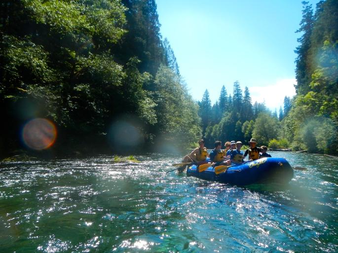 White water rafting on McKenzie River