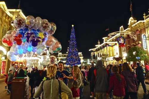 Disney's Main Street at Night