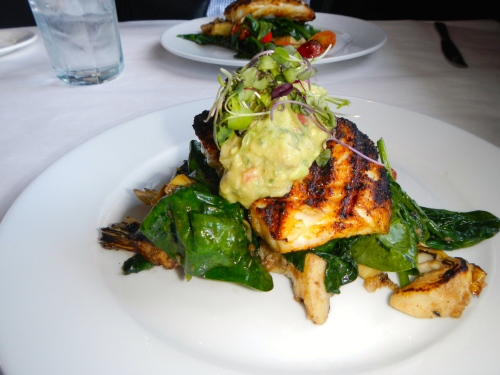 Grouper on Spinach