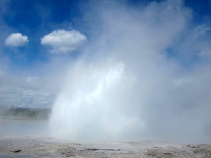 Most faithful geyser in Yellowstone