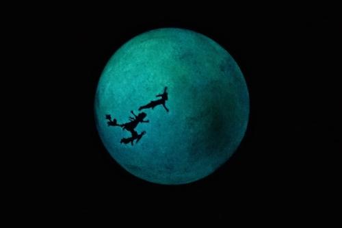 Peter Pan Shadow on Moon