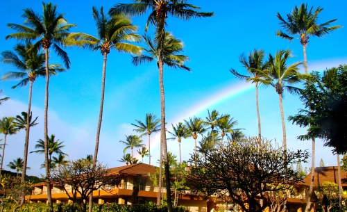 Rainbow over Aston Maui Villas