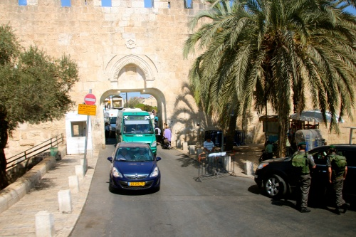 Road Through Wall around Jerusalem