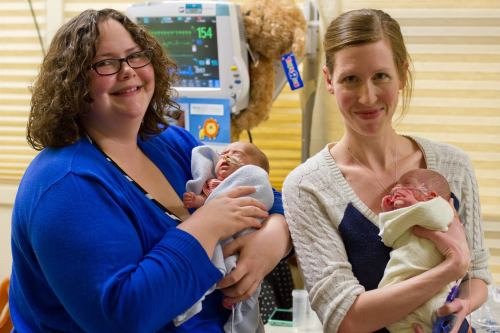 Two moms with tiny preemies