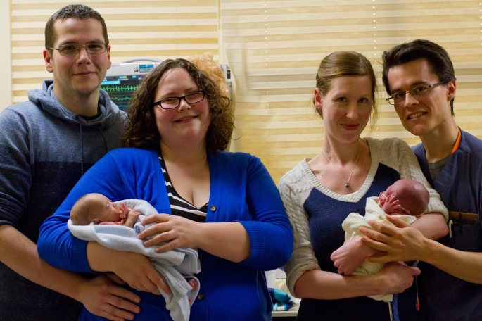 Two sets of parents with preemies