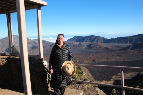 At top of Mt. Haleakala