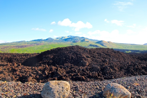 Last lava flows on Maui 1790