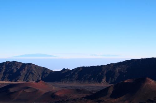 Mauna Kea and Mauna Loa from Mt. Haleakala