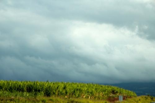 Mt. Haleakala shrouded by clouds
